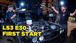 homepage tile video photo for LS Swapped E30 // First Start (and NASTY interior surprise)