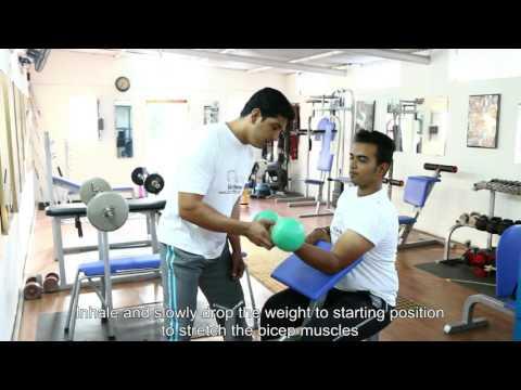 Biceps:  One Arm Dumbbell Preacher Curls, Tutorials by Rao's Health Club