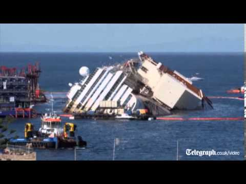 Costa Concordia recovery: time-lapse footage