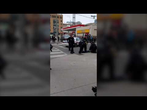 Video: Police arrest and Taser suspect after female officer allegedly assaulted
