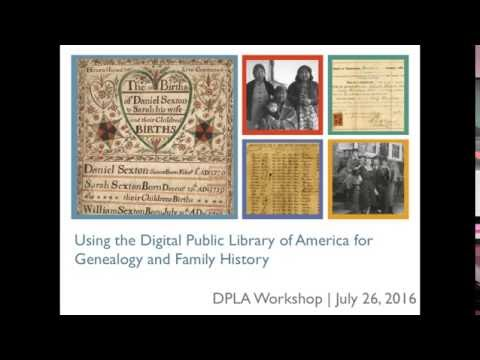 Using DPLA for Genealogy and Family History