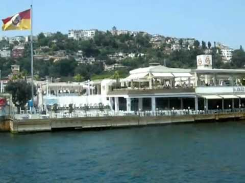 Sauda Floating Club in the middle of the Bosporus strait in Istanbul, Turkey