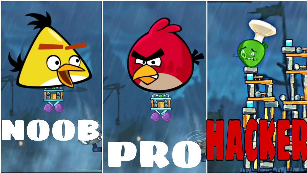 angry birds 2 NOOB VS PRO VS HACKER Gameplay Walkthrough Android iOS -  YouTube