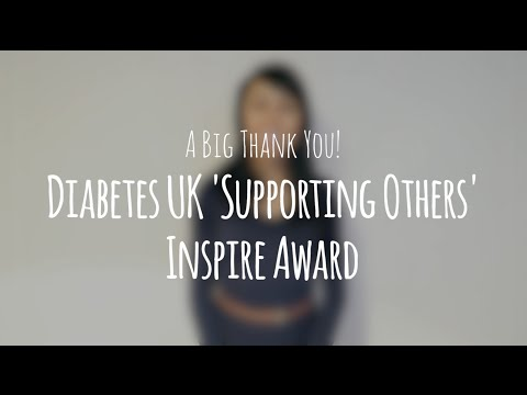 A Big Thank You! Winning the Diabetes UK Inspire Award!