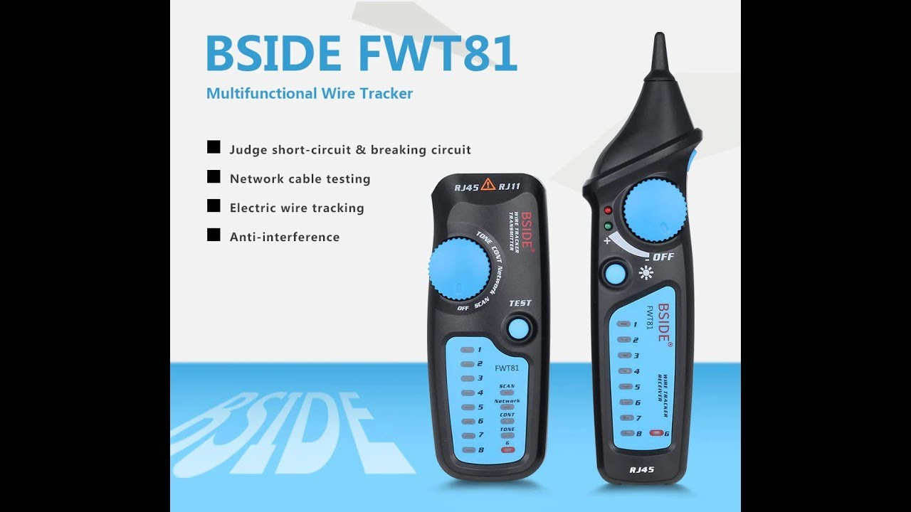 Wire Tracer Test Equipment Multifunctional Rj11 Rj45 Cable Tester Short Circuit Tracker