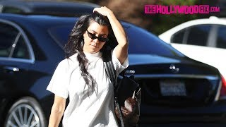 Kourtney Kardashian Looks Hot In Spandex While Dropping Mason Off At Art Class 6.27.17