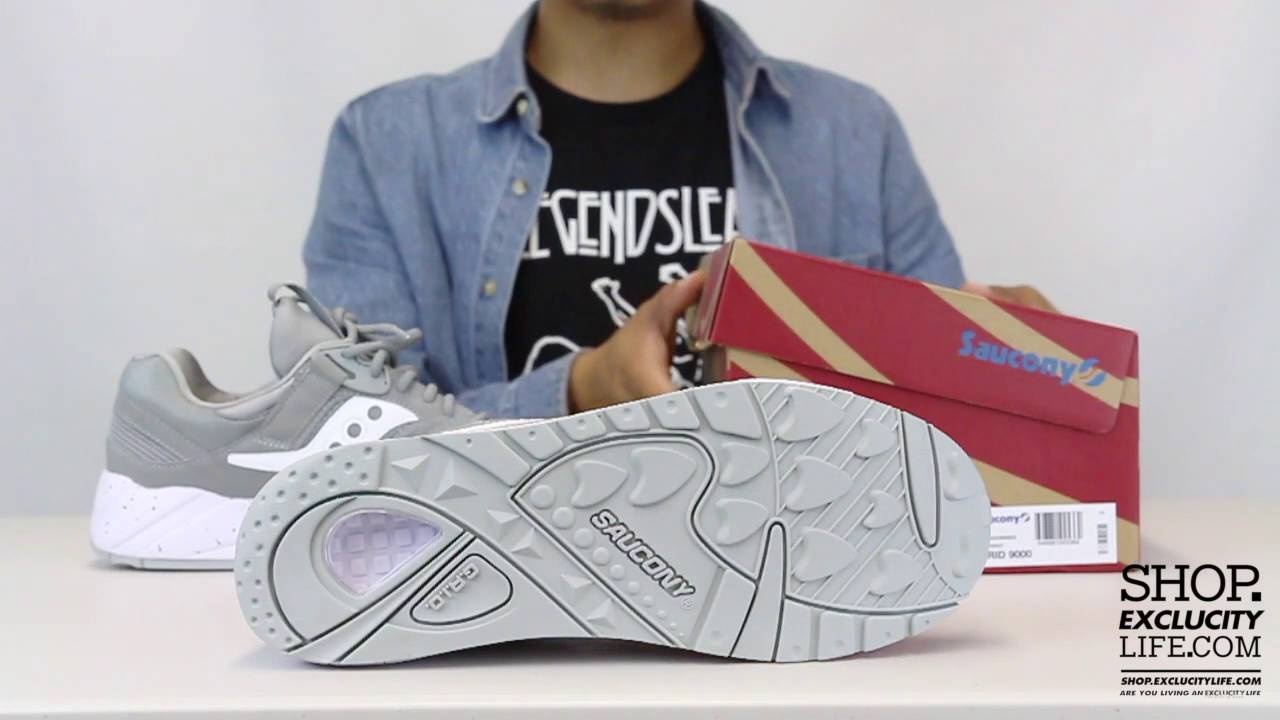 35ebf494 Saucony Grid 9000 Grey - White Unboxing Video at Exclucity - YouTube