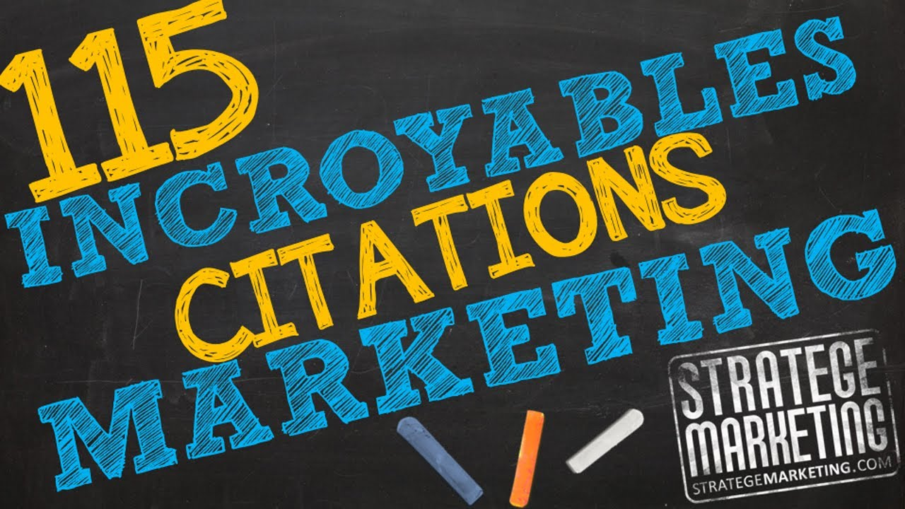Populaire 115 incroyables citations marketing - YouTube BB83