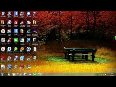 การเปลี่ยนภาพพื้นหลังหน้าจอคอมพิวเตอร์อย่างง่าย Change the wallpaper, the screen easily.