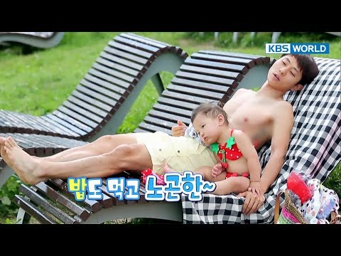 Jane's picnic to the park    plus daddy's six-pack abs! [The