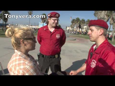 the Guardian Angels & Venice 311 meet at venice and talk Crime