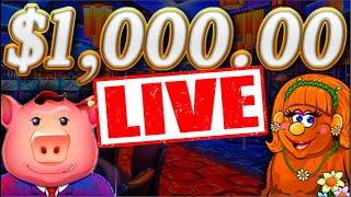 $1,000.00 Slot Machine LIVE Stream  W/SDGuy1234