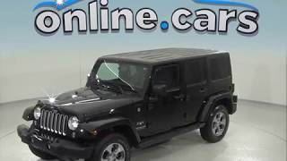 A96916TA Used 2016 Jeep Wrangler Unlimited Sahara 4WD Black Test Drive, Review, For Sale