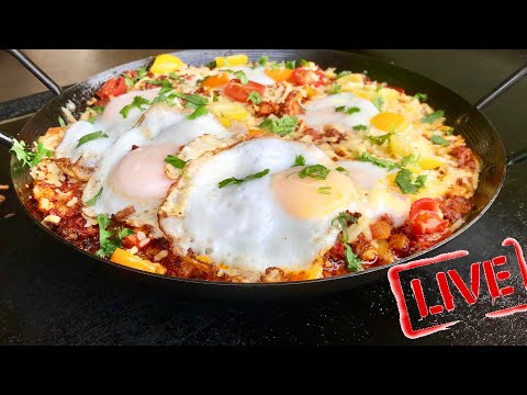 Blackstone Breakfast Chorizo Egg Skillet On A Flat Top Griddle