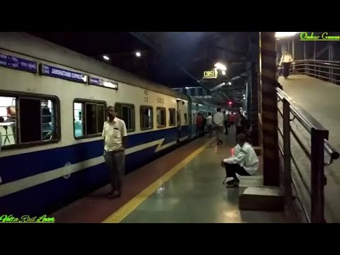 12051 Dadar - Madgaon Jan Shatabdi Superfast Express Arrives and Departs from Thane Railway Station
