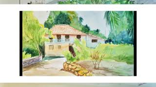 My watercolour painting dairy,,in this painting i enjoy the colours