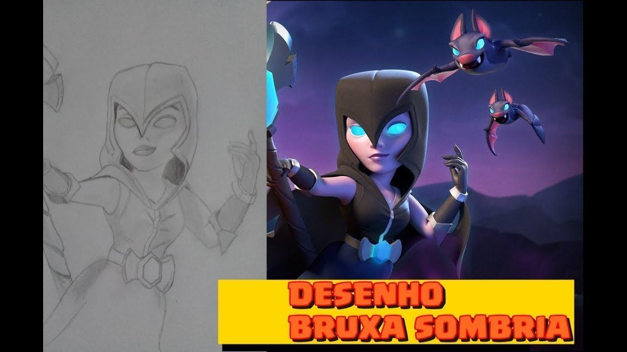 Desenhando A Bruxa Sombria Clash Royale Desenhos 1 Youtube