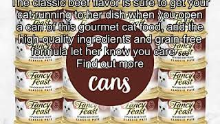 Purina Fancy Feast Classic Pate Tender Beef Feast Wet Cat Food - 3 oz. Can (Pack of 24)