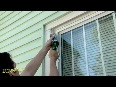 How to caulk windows for dummies youtube for Window caulking