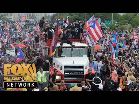 Thousands protest in Puerto Rico calling for governor to resign