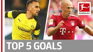 Top 5 Goals on Matchday 3 -  Robben, Alcacer, Embolo and More