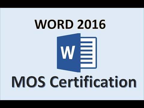 Word 2016 - MOS Exam Certification - Microsoft Office Specialist Test Practice Training Study Guide