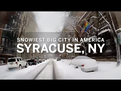 Why is Syracuse NY the snowiest big city in America?
