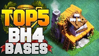 TOP 5 BEST Builder Hall 4 Base w/ PROOF! +2500 CUPS! | CoC BH4 Builder Base Designs | Clash of Clans