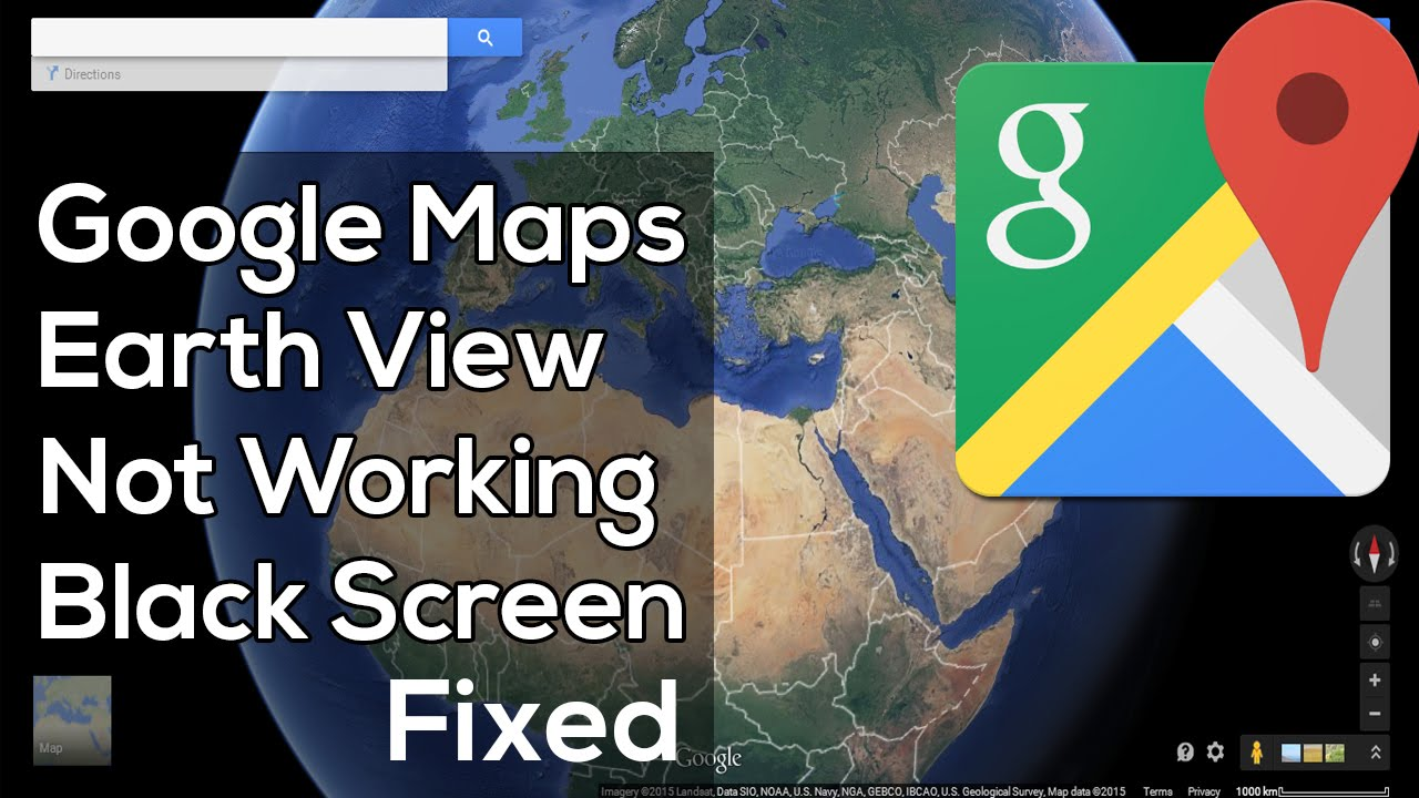 how to fix google maps earth view 3d not working black screen youtube