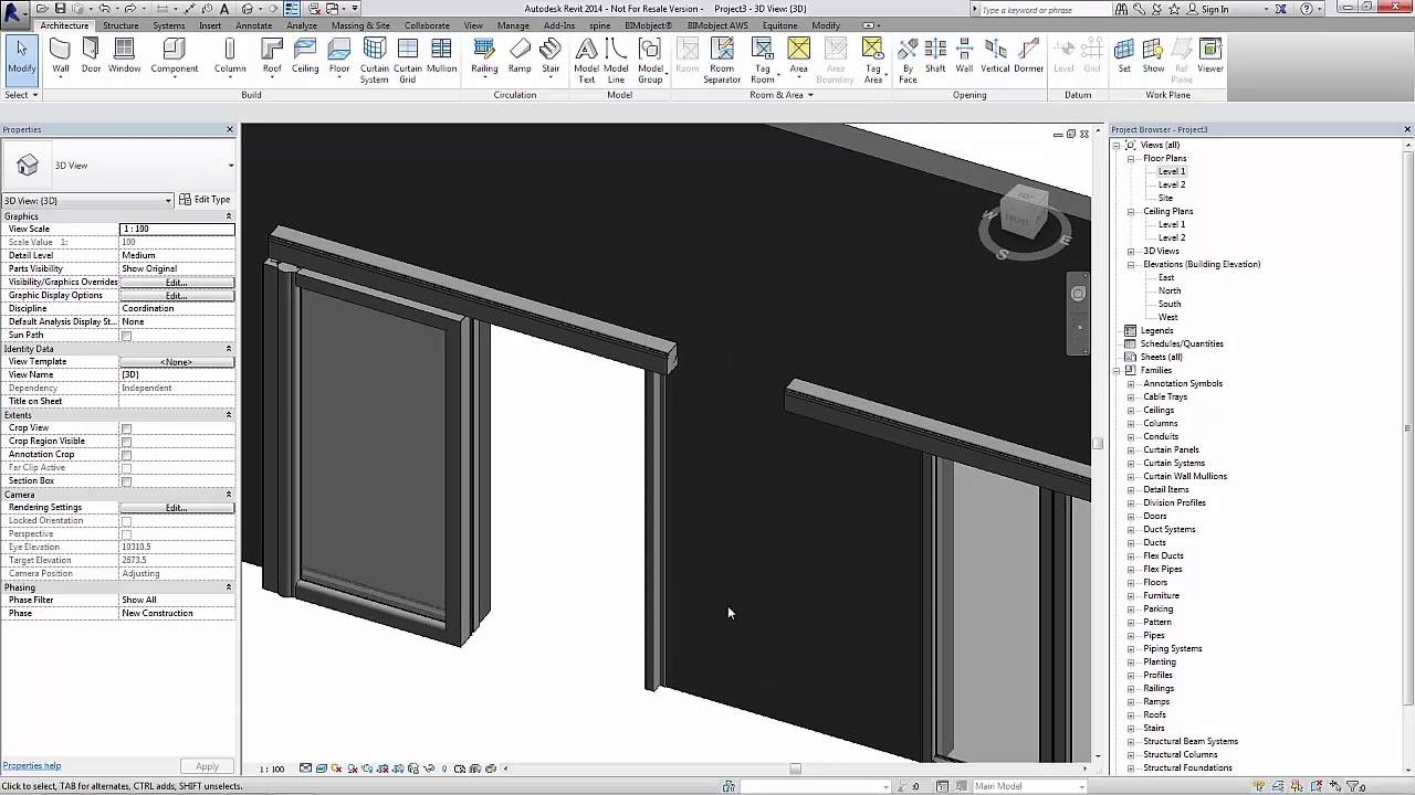 Bim Tutorial For Revit Besam Sliding Doors Ads Youtube