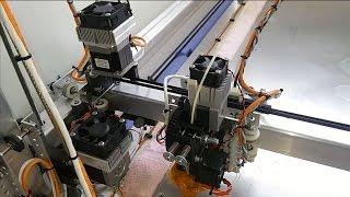large scale diy 3d printer 1200 x 1200 sub33d v3 nema23 stepper motor heatsink and fan upgrade