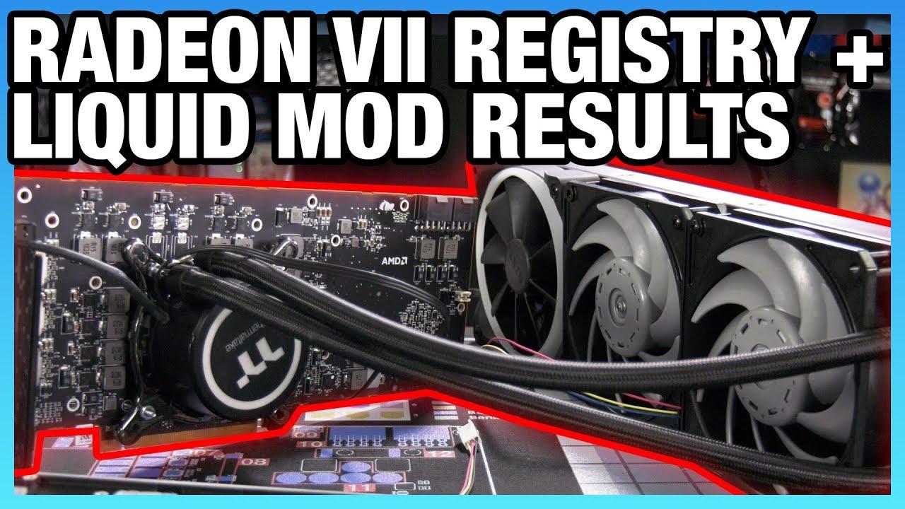 AMD Radeon VII Powerplay Overclocking & Water Cooling Results