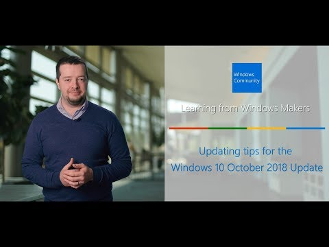 Updating tips for the Windows 10 October 2018 Update