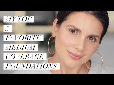 MY TOP FIVE FAVORITE MEDIUM COVERAGE FOUNDATIONS | ALI ANDREEA