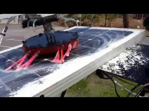 Automatic Self Cleaning Solar Panel