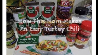 What's For Dinner?  Easy Crock Pot Turkey Chili Recipe