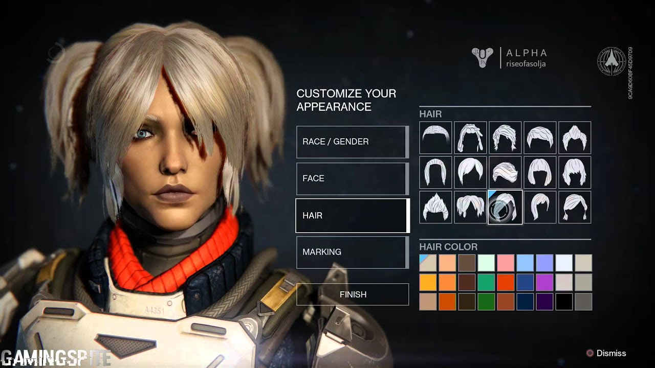 Destiny Human Female Character Customization YouTube