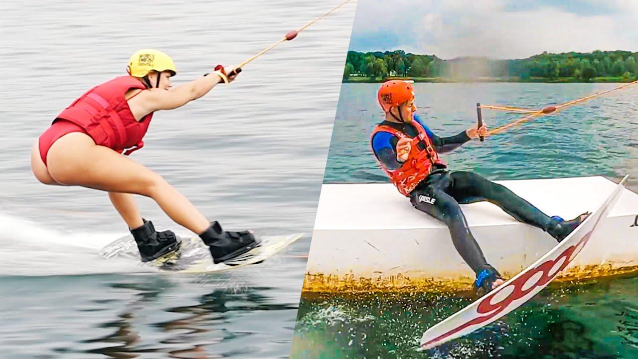 Download Marijns eerste keer wakeboarden 😂 & ik viel op de ramp! | #626