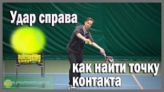 Теннис. Как найти точку контакта.