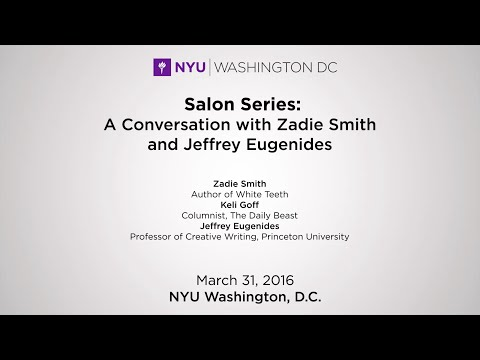 Salon Series: A Conversation with Zadie Smith and Jeffrey Eugenides