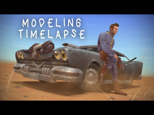 Fallout 2 Game art tutorial / commentary  -  03 Modeling timelapse in 3dsmax