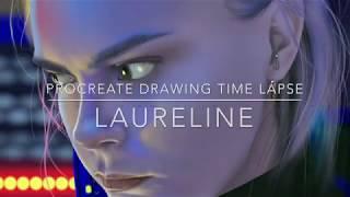 Valerian Laureline iPad Procreate drawing time lapse