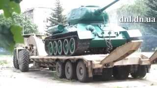 Дружковский танк вернулся домой 09.07.2014 - dnl.dn.ua