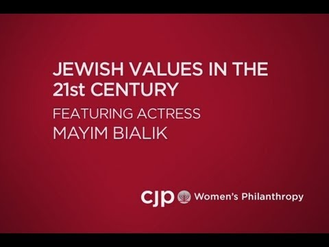 Actress Mayim Bialik talks about Jewish Values