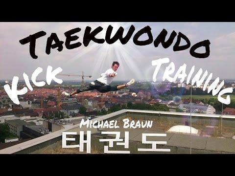 Michael Braun - taekwondo kick training