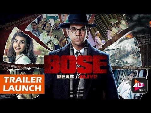 BOSE DEAD/ALIVE Official Trailer Launch | Rajkummar Rao | Ekta Kapoor