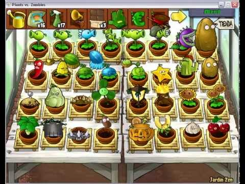 jardin zen completo plantas vs zombies youtube
