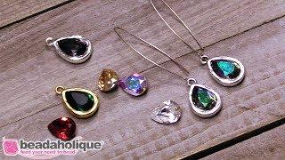 Quick & Easy DIY: Jewelry  Swarovski Crystal Pear Earrings