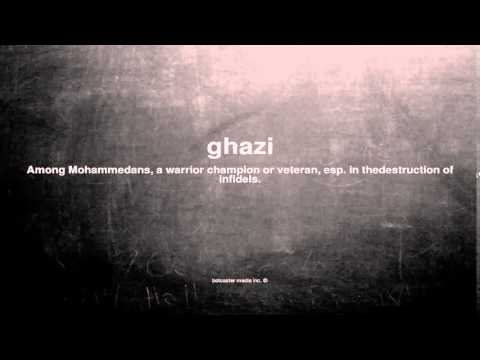What does ghazi mean
