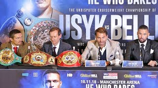 Oleksandr Usyk vs. Tony Bellew FULL PRESS CONFERENCE | Matchroom Boxing